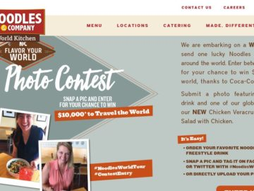 The World Kitchen Noodles & Company Flavor Your World Photo Contest