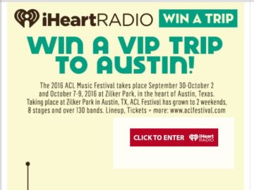 The iHeartRadio Austin City Limits Music Festival! Sweepstakes