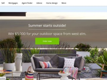 Zillow and west elm Summer Sweepstakes