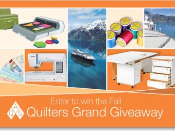 The Fall AQS Quilters Grand Giveaway Sweepstakes