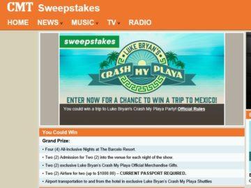 Luke Bryan Crash My Playa Fly Away Sweepstakes