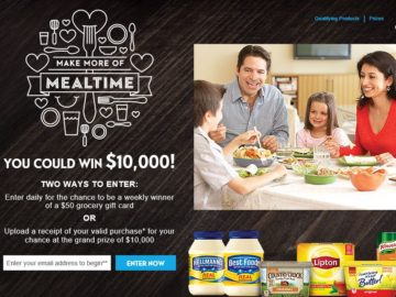 The Make More of Mealtime Sweepstakes – Select States