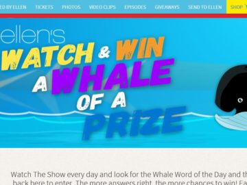 Ellen's Mattress Firm Watch and Win a Whale of a Prize Contest