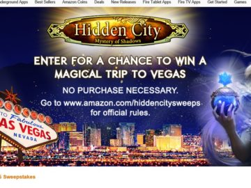 The Amazon Appstore and G5 Games Hidden City Sweepstakes