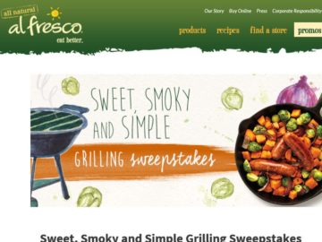 """The al fresco """"Sweet, Smoky and Simple"""" Grilling Sweepstakes"""