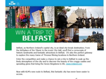 KLM Belfast Sweepstakes