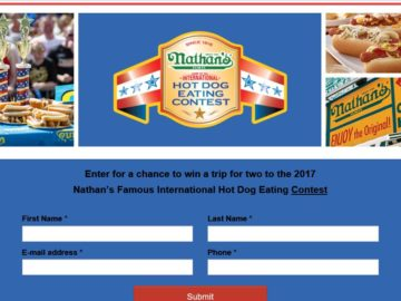 The Nathan's 2017 Coney Island Getaway Sweepstakes