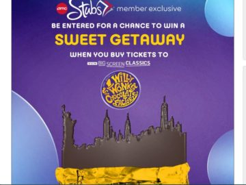 The WILLY WONKA AND THE CHOCOLATE FACTORY Flyaway Sweepstakes