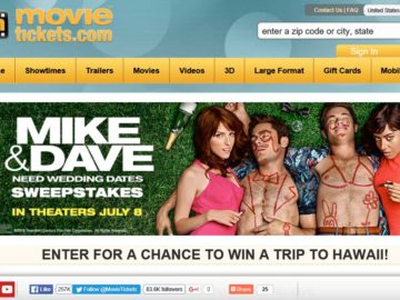 "The MovieTickets.com ""Mike and Dave Need Wedding Dates"" Sweepstakes"
