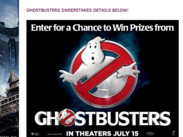 """The Bow Tie Cinemas """"Ghostbusters"""" Sweepstakes"""