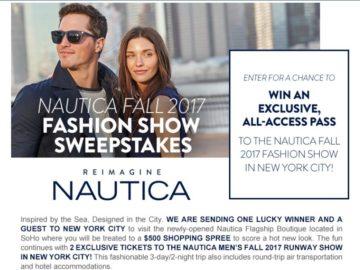Nautica Fall 2017 Fashion Show Sweepstakes