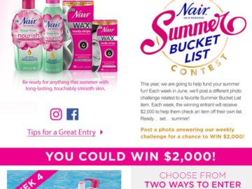 "Nair ""Summer Bucket List"" Contest"