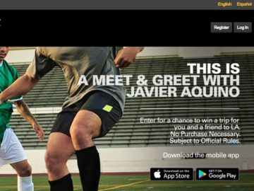 2016 Western Union Be Fútbol Campaign Sweepstakes