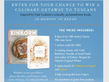 Tastebook In Memory of Bread Trip to Italy Sweepstakes