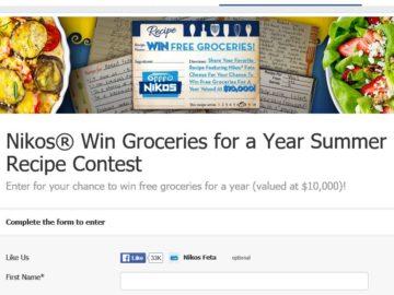 "The Saputo Cheese USA Inc. Nikos ""Win Groceries For A Year"" Recipe Contest"
