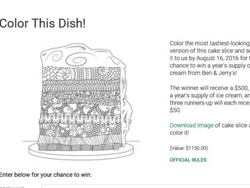 The Food Network Magazine Color this Dish! Contest
