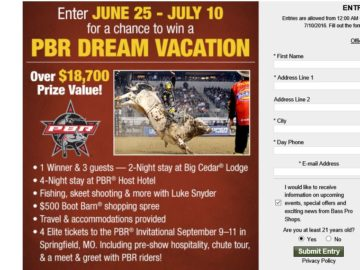 Bass Pro Shops Family Summer Camp Sweepstakes