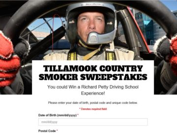 """Tillamook Country Smoker """"Richard Petty Driving Experience"""" Sweepstakes"""