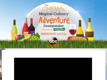 "The Chew's ""Magical Culinary Adventure"" Sweepstakes"
