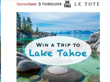Shermans Travel Trip to Tahoe Sweepstakes