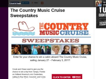 The Country Music Cruise Sweepstakes