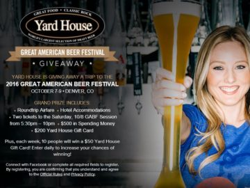 Yard House Great American Beer Festival Giveaway Sweepstakes