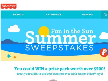 The Fisher-Price Fun in the Sun Summer Sweepstakes