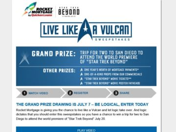 The Quicken Loans Live Like A Vulcan Sweepstakes
