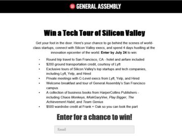 General Assembly Trip to Silicon Valley Sweepstakes
