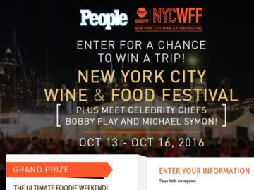 The PEOPLE Food Network & Cooking Channel New York City Wine & Food Festival Sweepstakes