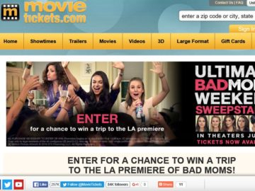 """The MovieTickets.com's """"Bad Moms"""" Sweepstakes"""