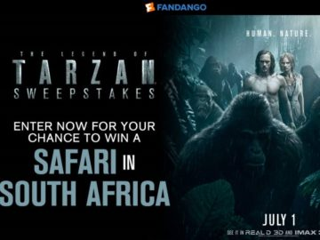 Fandango's The Legend of Tarzan Sweepstakes