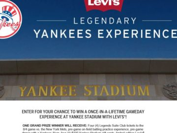 Levi's Legendary Yankees Experience Sweepstakes