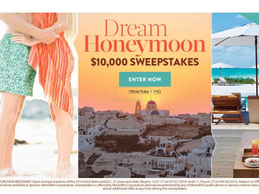 The Martha Stewart Weddings $10,000 Sweepstakes