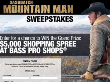 "Bass Pro Shops 2016 ""Mountain Man"" Sweepstakes"