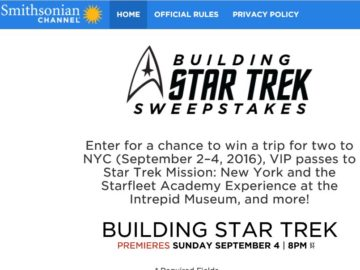 The Smithsonian Channel Building Star Trek Sweepstakes