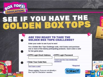 Golden Box Tops Challenge Sweepstakes