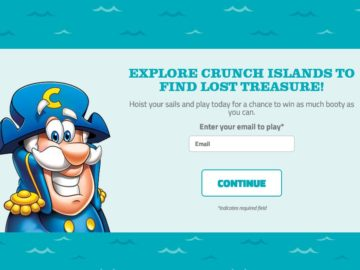 The Cap'n Crunch Treasure Quest 2.0 Instant-Win Sweepstakes – Select States