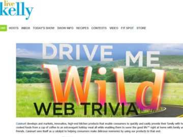 Live with Kelly Drive Me Wild Trivia Web Edition Sweepstakes