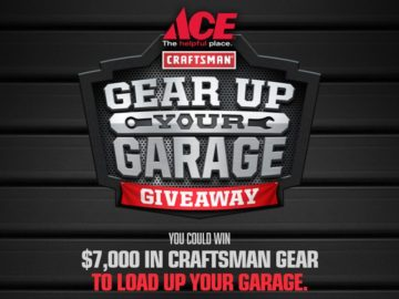 Ace Craftsman Gear Up Your Garage Sweepstakes
