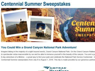 National Park Foundation Centennial Summer Sweepstakes