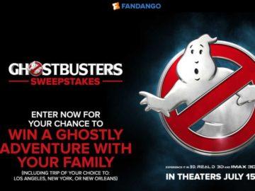 Fandango's Ghostbusters Sweepstakes