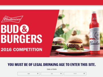 The Budweiser Bud and Burgers Contest