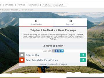 Cotopaxi #YearOfAdventure Alaska Road Trip Sweepstakes