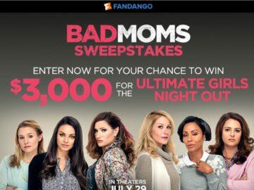 Fandango's 'Bad Moms' Sweepstakes