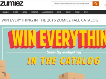 Zumiez 'Win Everything in the Catalog' Sweepstakes