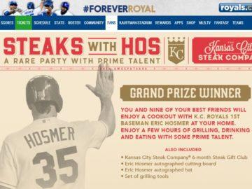MLB.com Steaks with HOS SweepSTEAKS Sweepstakes