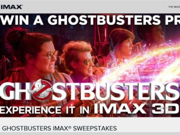 The Ghostbusters IMAX Sweepstakes