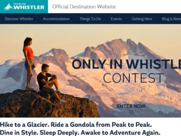 Tourism Whistler Contest