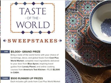 The America's Test Kitchen Taste of the World Sweepstakes